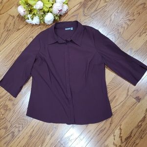Apt 9 Button Down Purple Shirt Plus 1X